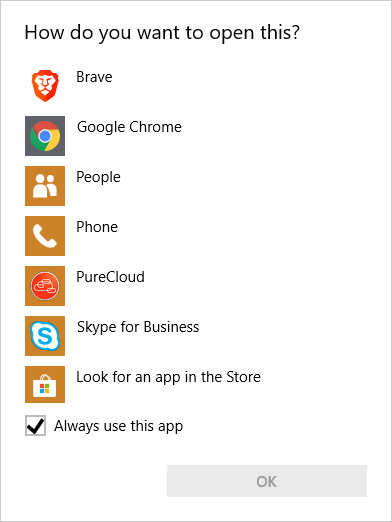 Click to dial using PureCloud for Chrome extension