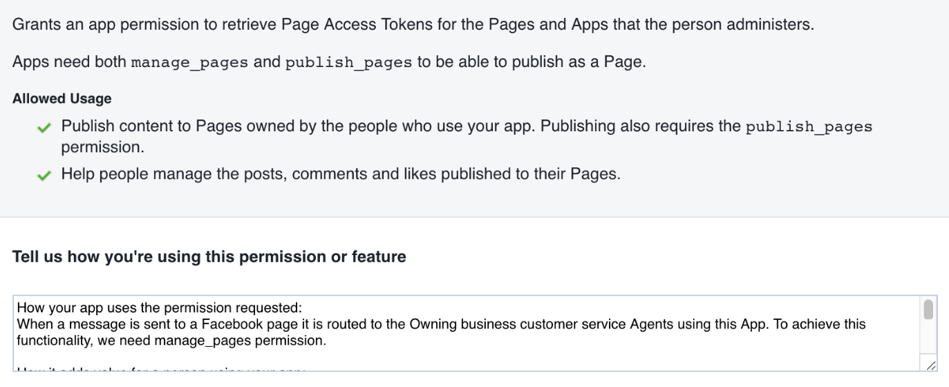 Facebook App Approval - PureCloud Developer Forum